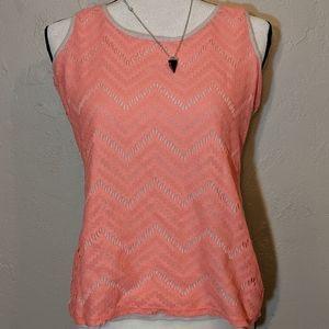 Coral and Cream Maurice Top